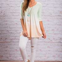 I Vote Yes Top, Seafoam