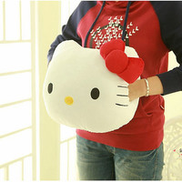 Hello Kitty Plush Warm Hands Cushion Nap Pillow animal throw pillow Christmas birthday gift big size 40 cm * 30 cm
