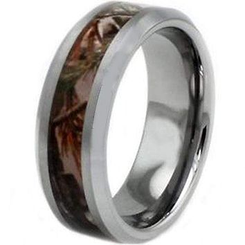 Tungsten Rings For Women White Tungsten Carbide Ring With Camo
