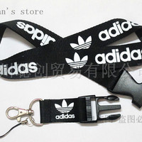 FREE SHIPPING  One PC Men  Black Sport Logo Original Mobile Lanyard for Keys