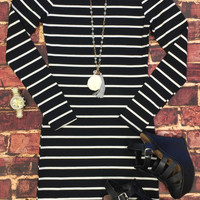 She's Looking at You Tunic Dress: Black
