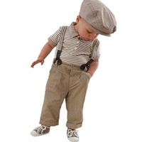 PanDaDa Baby Boy Bow-tie Top T-shirt Shorts Pants Suit Outfit Sets Overall 0-3y