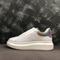 Alexander McQueen White Sneakers With Colorful Web - Best Online Sale