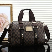 Louis Vuitton Women Leather Shoulder Bag Satchel Tote Handbag Crossbody