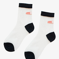 Black Mesh Band-Aid Socks