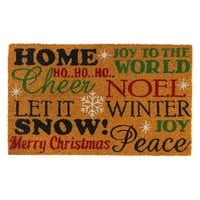PVC Christmas Holiday Cheer Welcome Door Mat