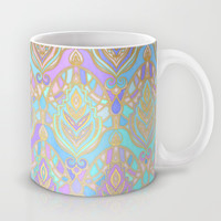Jade & Blue Enamel Art Deco Pattern Mug by Micklyn