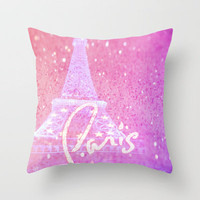 Paris in Pink Throw Pillow by Veronica Ventress | Society6