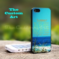 Summer Quotes - For iPhone 5 Black Case Cover