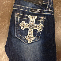 Girls: Miss Me Cross Pocket Skinny Jean