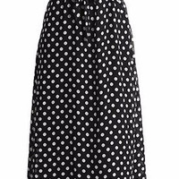 Black Polka Dot Vintage Chiffon Long Dress