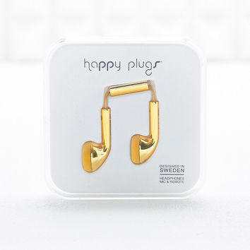 Happy Plugs Headphones in Gold - Urban Outfitters
