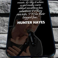 hunter hayes quote for iPhone 4/4s, iPhone 5/5S/5C/6, Samsung S3/S4/S5 Unique Case *76*