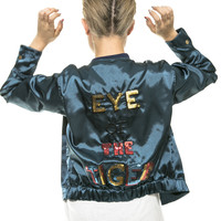 Sequin Silk Bomber Jacket Eye of the Tiger - Last One