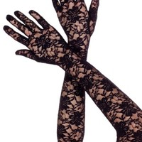 Stretch Lace Over The Elbow Gloves
