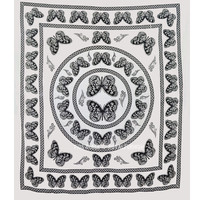 White and Black Butterfly Wall Tapestry, Bedroom Dorm Indian Bedding on RoyalFurnish.com