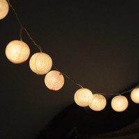 battery string light cotton ball hanging lantern party table dinning display decor wedding reception desk party patio night