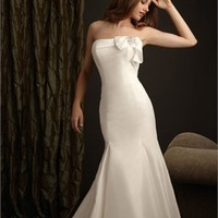 Elegent Strapless Highlight The Curve Glamour Stain Mermaid Wedding Dress WD1683