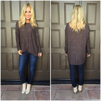 Freckled Rayon Knit Blouse