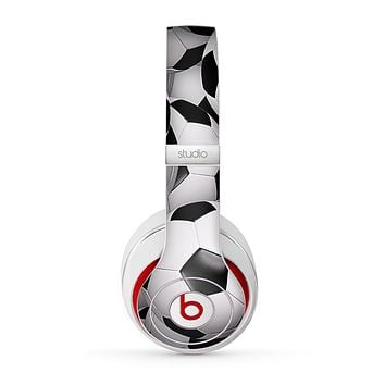The Soccer Ball Overlay Skin for the Beats by Dre Studio (2013+ Version) Headphones