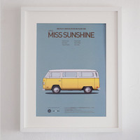 Little Miss Sunshine inspired movie poster, art print A3 Cars And Films