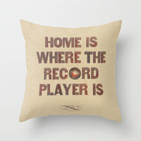 Home is where... Throw Pillow by Sammy Slabbinck