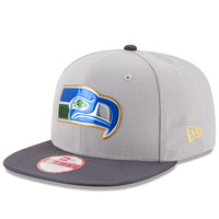 Men's Seattle Seahawks New Era Gray/Graphite Gold Collection Classic Original Fit 9FIFTY Snapback Adjustable Hat