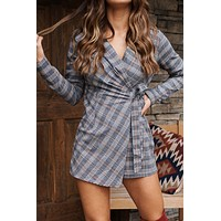 Wonder Wall Wrap Romper (Navy)