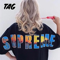 Supreme 17FW Crash Tee Big Logo Tshirt S--XL
