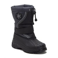 Boys Icy-61 Fur Lined Water Resistant Pull-Tie Tall Winter Rain & Snow Boots