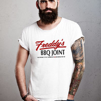 Freddy's BBQ Joint T-shirt House of Cards Inspired Pinup 50s 60s 70s T-shirt tee Shirt TV show hipster Hot Funny Mens Ladies cool MLG-1029