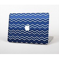 "The Blue Gradient Layered Chevron Skin Set for the Apple MacBook Pro 13"" with Retina Display"