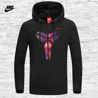 NIKE autumn and winter new Kobe Black Mamba men's sports long-sleeved hooded sweater black