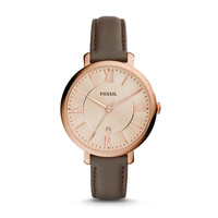 Jacqueline Gray Leather Watch