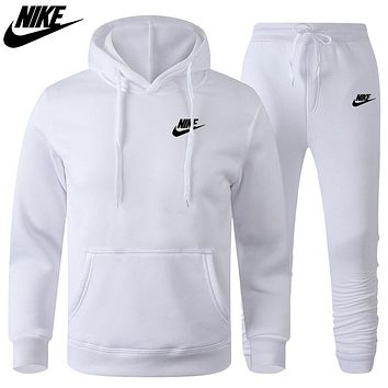 Nike Letter Print Hooded Sweater Casual Men's Sports Suit