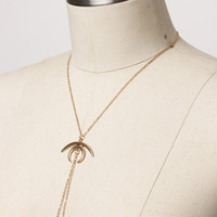 1PC Retro Women Lady Gold Plated Moon Pendant Punk Long Chain Necklace Jewelry