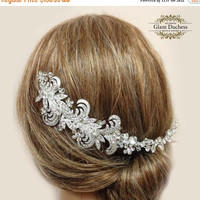 Bridal headband, rhinestone headband, Crystal headband, pearl headband, wedding hair accessory, bridal accessory