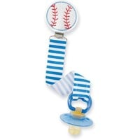 Mud Pie Baby Baseball Pacy Clip, Multi, One Size