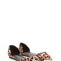 Point Your Toes Leopard D'Orsay Flats