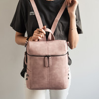 Multifunction Women's Backpack Fashion Leisure Leather Backpacks For Teenage