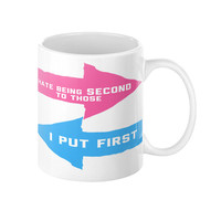 Coffee Mug, Motivational, I Hate being second, Mug with quote