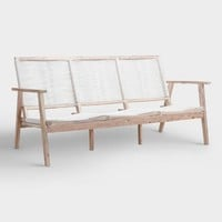 White Wood Montigo Outdoor Occasional Bench