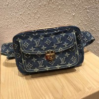 LV Louis Vuitton MONOGRAM JEANS CANVAS WAIST PACK CROSS BODY BAG