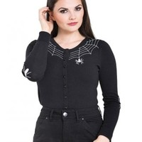 Hell Bunny Spider Gothic Cardigan | Attitude Clothing