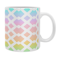 Lisa Argyropoulos Daffy Lattice Pastel Rainbow Coffee Mug