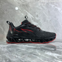 HCXX N848 Nike AIR MAX 2019 Braided Mesh Flame Blade Shock Absorbing Springback Bottom Running Shoes Black Red