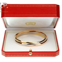 Cartier Trinity Bracelet Bangle 18 K 750 Tricolor Gold Bangle Bracelet Pulsera