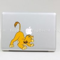 TOP DECAL Lion- Apple Macbook Decal Sticker Humor Avery Partial Art Skin Protector for pro/Air 13inch