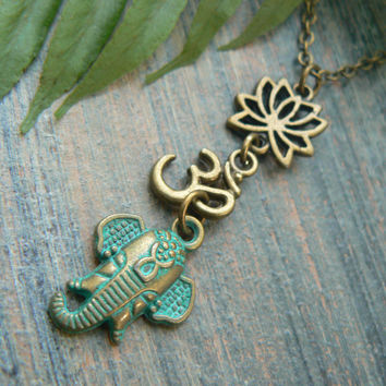 spiritual necklace Ganesha necklace zen necklace buddah necklace yoga necklace