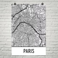 Paris France Street Map Poster